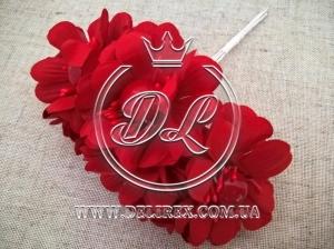 Цветок с жемчугом TF 887 , красный