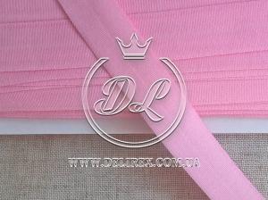 Косая бейка стрейч 2 см, розовая (45 м.)