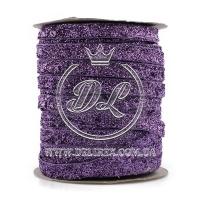 Лента велюр с люрексом , фиолетовая