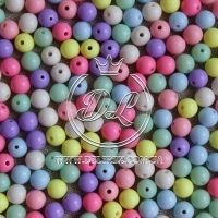 Бусины-пастель 8 мм, МИКС