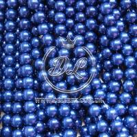 Жемчуг на леске 6 мм, темно-синий
