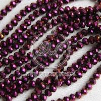 Бусины хрусталь 6 мм, фиолетово-чернильные (перлам.)