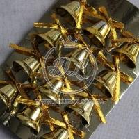 Колокольчики 2.5 см, золото