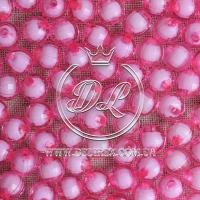 Хрусталька  -жемчуг  10 мм , розовая ( 500 гр.)