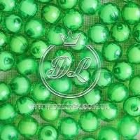 Хрусталька  -жемчуг  10 мм, зелёная ( 500 гр.)