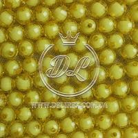 Хрусталька  -жемчуг  10 мм, желтая ( 500 гр.)