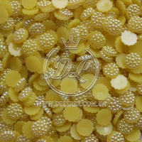 С-ка пластик -пупер Перламутр 1 см, желтый