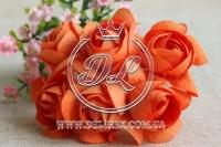 Камелия 5 см , оранжевая