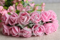 Роза  из Фома 1.5 см,  яр.розовая