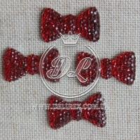 С-ка бантик пупер 2 см , красный ( 250 шт)