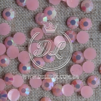 Стразы 7 мм. перламутр-розовые