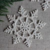 Снежинка  9 см,  с цветком