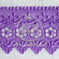 Кружево #10770 темно-фиолетовое