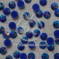 Стразы 7 мм. перламутр-темно-синие