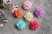 С-ка роза акрил 2 см , МИКС