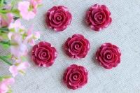 С-ка роза акрил 2 см , бордовая