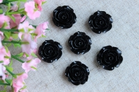 С-ка роза акрил 2 см , черная