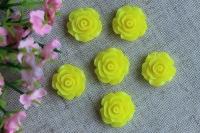 С-ка роза акрил 2 см , желтая