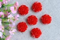 С-ка роза акрил 2 см , красная