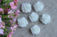 С-ка роза акрил 2 см , белая