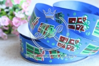 Репс 2.5 см новогодняя, подарок на синем