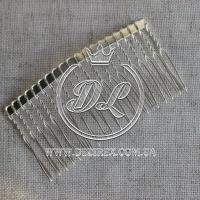 Гребешок метал 8 см  -50 шт. (большой-капля)