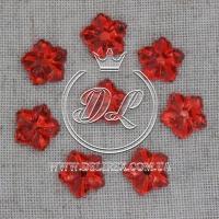 С-ка цветок с отвором 13 мм красный- 480-500 шт