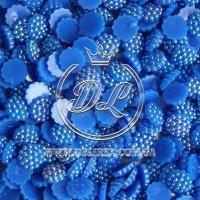 С-ка пластик -пупер Перламутр 1 см, темно-синий