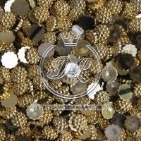 С-ка пупер пластик  1 см, золото