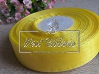 Органза 0,9 см , желтая