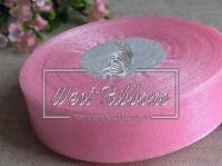 Органза 0,9 см , ярко-розовая