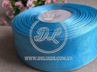 Органза 4 см , голубая