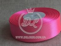 Атлас 1,2 см , насыщено ярко-розовый  89