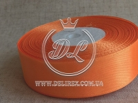 Атлас 2.5 см , оранжевый  151