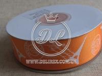 """Репс 2.5 см """"Париж"""", на оранжевый"""
