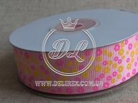 """Репс 2.5 см """"Мини цветок', розовый"""
