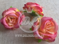 Роза ткань 5 см, коралловая (25 шт.)