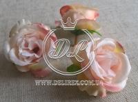 Роза ткань 5 см, персиковая (25 шт.)