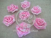 Бутоны роз  # 07 , бело-розовые  (100 шт.)