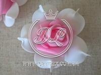 Бутоны роз  # 005 - 7 см ,бело-ярко-розовые