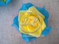 Бутоны роз  # 005 - 7 см , желто-голубые