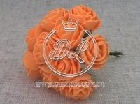 Роза  # 11007 -3 см, оранжевая
