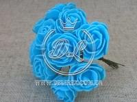 Роза  # 11007 -3 см, бирюзовая