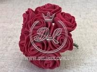 Роза  # 11007 -3 см, бордовая