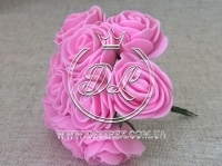 Роза  # 11007 -3 см, яр.розовая