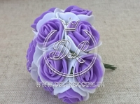 Роза  # 11007 -3 см, бело-фиолетовая