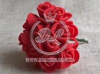Роза  из Фома 1.5 см, красная