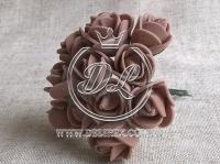 Роза  из Фома 1.5 см, коричневая