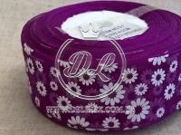 """Органза """"Ромашка"""" 4 см, темно-фиолетовая"""