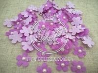 Цветок с полубусиной -фиолетовый